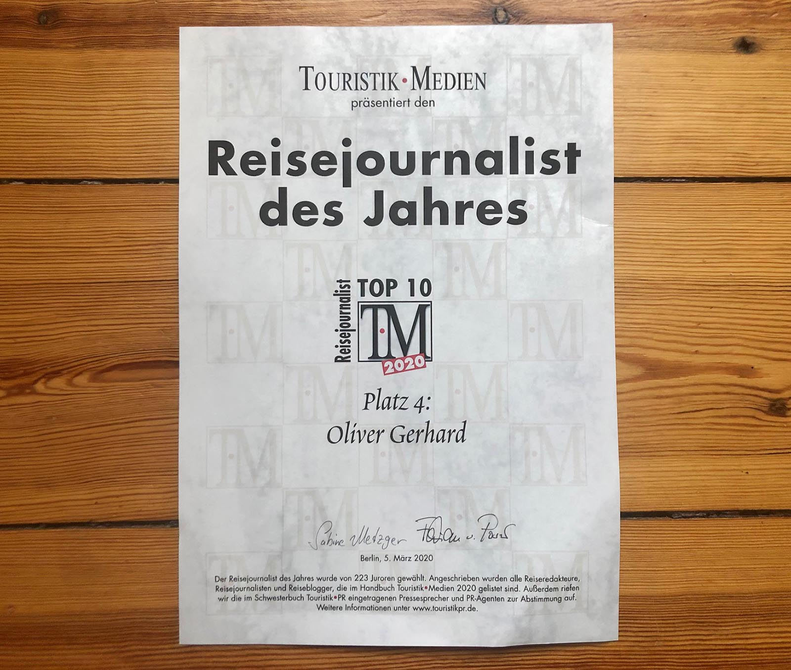 You are currently viewing Reisejournalisten des Jahres