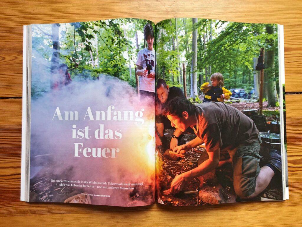 Artikel über die Wildnisschule Uckermark.